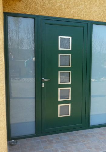Porte d'entrée aluminium sur mesure - réalisations devis gratuit