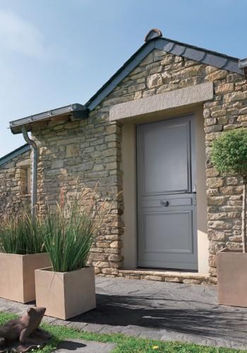 Porte d'entrée bois moderne sur mesure - réalisations devis gratuit