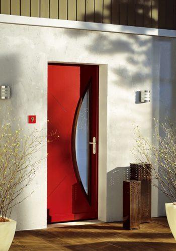 Porte d'entrée bois sur mesure - réalisations devis gratuit