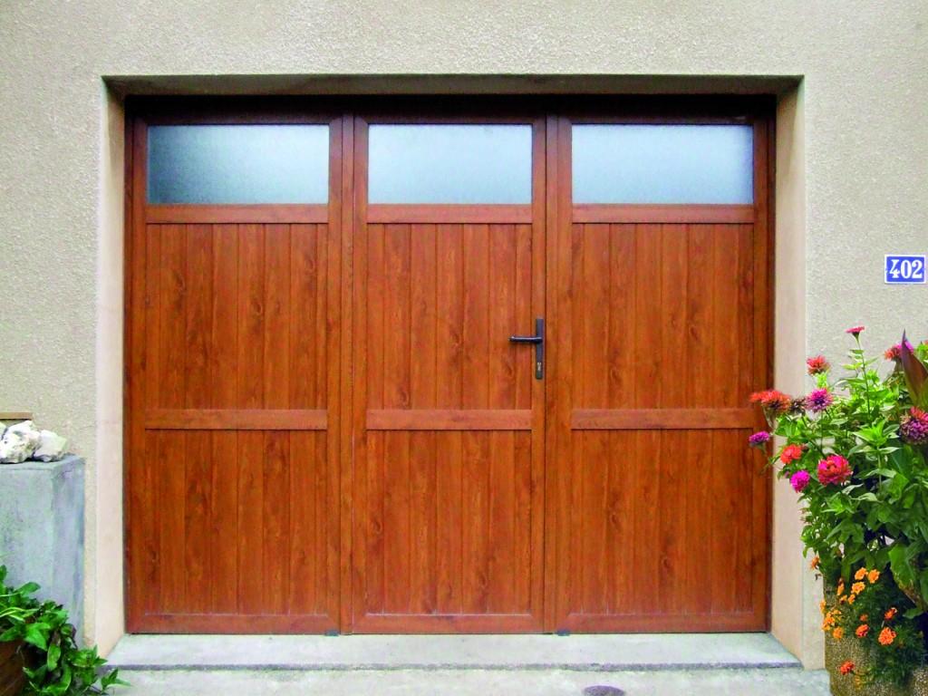 Porte de garage battante pvc sur mesure devis gratuit - Porte de garage battant pvc ...