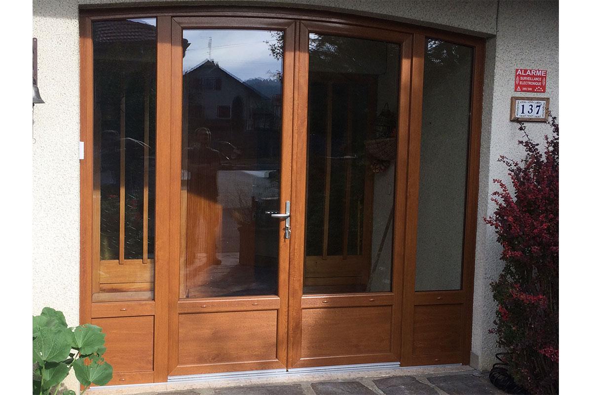 Porte d'entrée pvc décor  bois Chambéry
