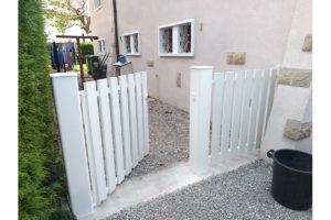 Portillon battant blanc Annecy-le-vieux